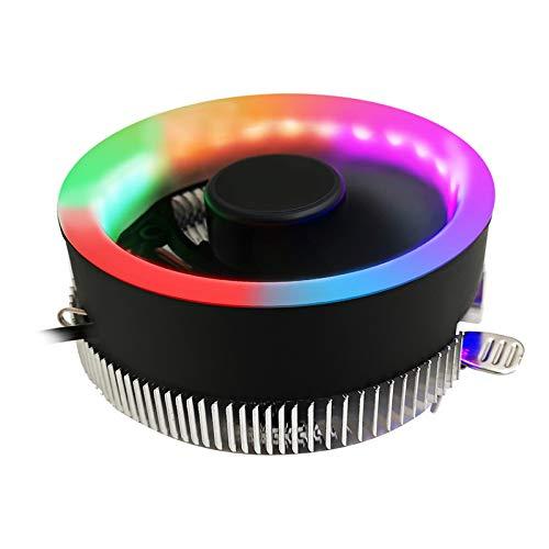 MERIGLARE Ordenador LED Colorido CPU Enfriador Ventilador Ventilador Ventilador Disipador de Calor de Escritorio Silencioso