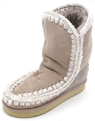 MOU Kind MÄDCHEN Stiefel Stiefeletten Boots Winter Art. Eskimo Boot Kid 22-35 34 Grigio TALPA Grey