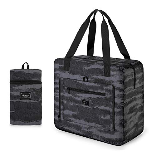 Gonex 33L Foldable Duffle Bag Luggage Bags Water Repellent Nylon for Travel Sports Gym Camping Weekender Bags Overnight Bag Hospital Bag Men Women Flower Printed