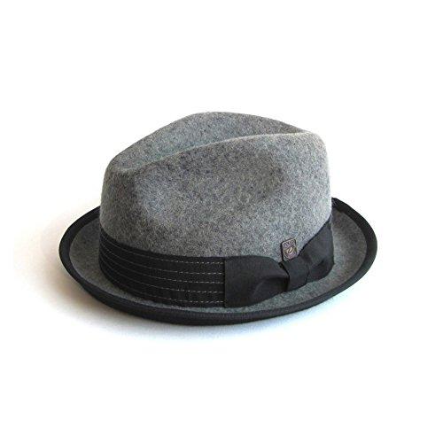 DASMARCA-Collection Hiver-déformable et Compressible-Chapeau de Feutre Gris-Albert-S