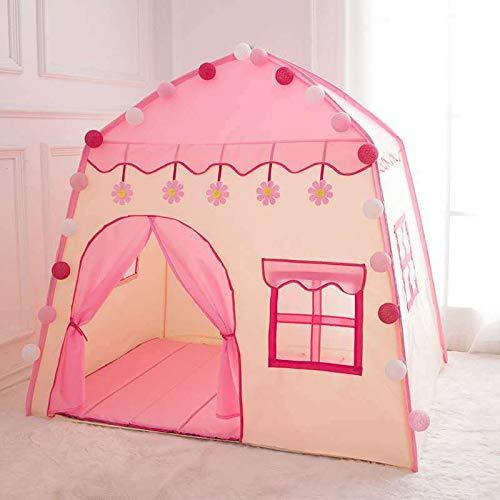 Casa de Campaña para Niñas Castillo de Princesas - Regalos para Niños Niñas Tiendas de Campaña Transpirable, Pop-up Portátil y Plegable Con bolsa de almacenamiento, Para Guardar Juguetes Uso Interior y Exterior (Rosa#2)