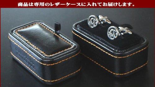 鎌倉カフス工房シルバーツートンカフス(カフスボタン)sc025