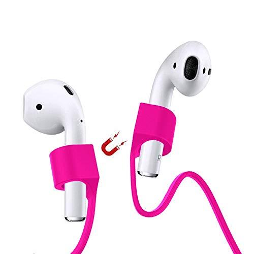 Amial Europe - Correa Magnética Compatible con AirPods [Longitud Extra 70cm] Strap Anti-perdida Cordaje Protector para Auriculares Inalámbricos Bluetooth (Violeta)
