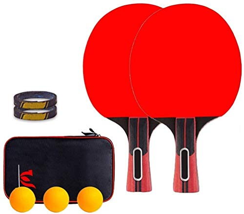 Check Out This CHENXU Pong Paddle Set Able Tennis Sets Portable Table Tennis Racket 5-ply Wooden Bla...