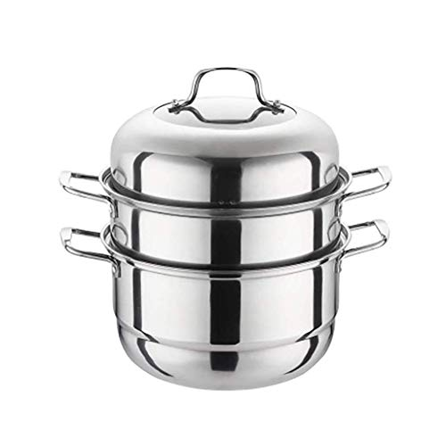 KaiKai Espesar Tres Pisos Vapor Utensilios de Cocina, 3 Nivel Acero Inoxidable Pot Pot Salsa de múltiples Capas de la Caldera