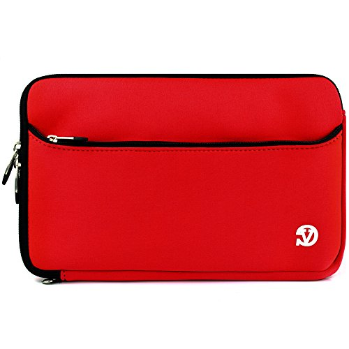 """Vangoddy Tablet Pouch Carrying Case Sleeve Bag 9.7""""to 10.1"""" for AT&T Primetime / Coby Kyros / Chuwi Hi10 / Contixo LA903 / Datawind UbiSlate 10Ci / Ematic 9"""" / 10"""" (Red)"""