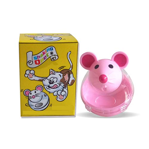 Katzenspielzeug Mausbecher undichter Futterball Neues Haustier Katzenspielzeug Spaßbecher undichter Futterball (Color : Pink)