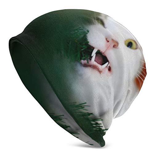 Meiya-Design Unisex-Mütze, weich, Katzenfell, verspielt, Beißmütze, Chemo-Mütze, Turban, Cozy Skull Mütze, leicht, Stretch, Schlafmütze für Männer und Frauen