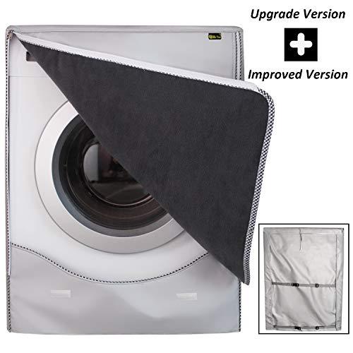 Mr.You]Waschmaschine Deckung wasserdicht Sonnencreme staubdichten mit Frontlader Silber XL