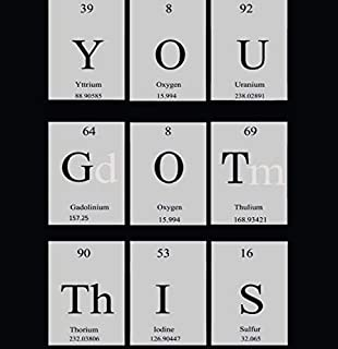 YOU GOT THIS Motivational Poster - Inspirational Wall Art Periodic Table Artwork Display Sign – Perfect Daily Motivation C...