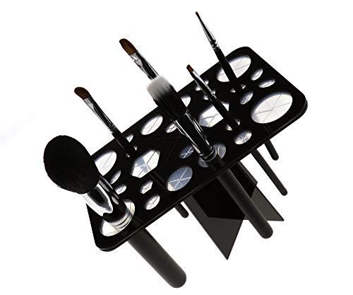 Porte-pinceaux à maquillage pliable 28 trous Noir