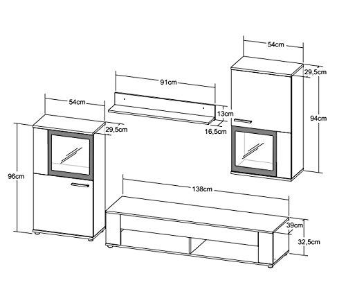 Wohnwand – BMG Möbel  Schrankwand kaufen  Bild 1*