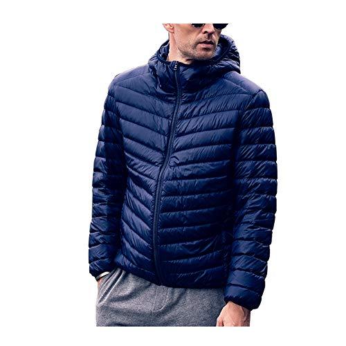 Chaqueta de Plumas Hombre Puffer Coat Down Jacket Plegable Ligero Invierno Chaqueta...