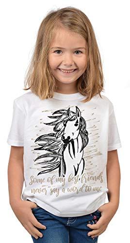 Pferde Sprüche Mädchen T-Shirt -...