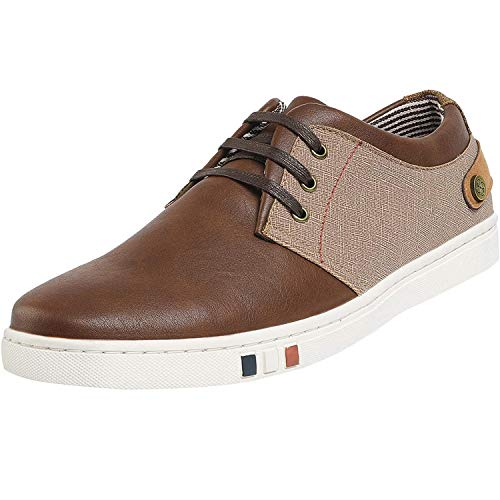 Bruno Marc Men's NY-03 Brown Fashion Oxfords Sneakers Business Classic Casual Dress Shoes Size 10 M US