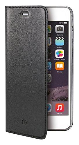 Celly Buddy Custodia a Portafoglio con Cover Magnetica Staccabile per iPhone 6 Plus/6S Plus, Ecopelle, Nero