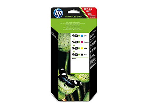 HP - Hewlett Packard OfficeJet Pro 8500 A (940XL / C 2 N 93 AE) - original - Tintenpatrone MultiPack (schwarz, cyan, magenta, gelb) - 2.200 Seiten