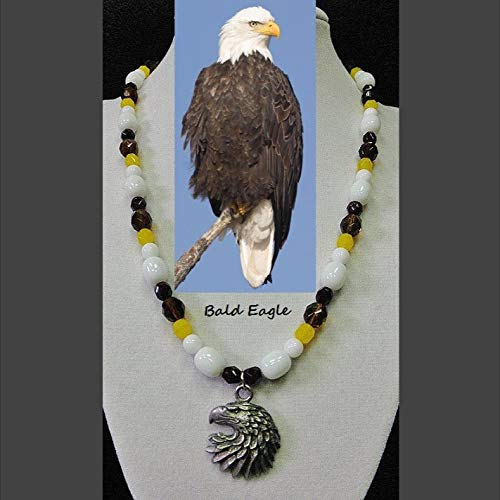 Bald Eagle genuine Sales white Jacksonville Mall agate opal art smokey topaz yellow