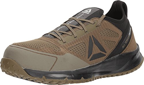 Reebok Work Men's All Terrain Safety Toe Trail Running Work Shoe, Sage Green, 11.5