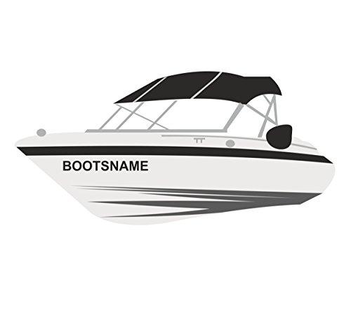 Melis Folienwerkstatt Bootsname - 2 Stück Boot Name - 10cm Höhe - Boot Name Beschriftung Aufkleber Kennzeichen Bootsnummer Bootskennzeichen - A10