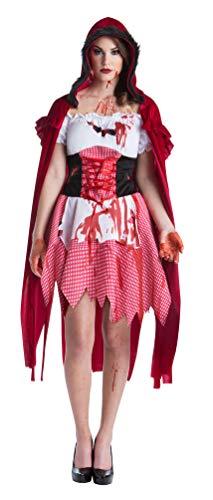 Karneval-Klamotten Zombie Rotkäppchen Damen Kostüm blutiges Rotkäppchen