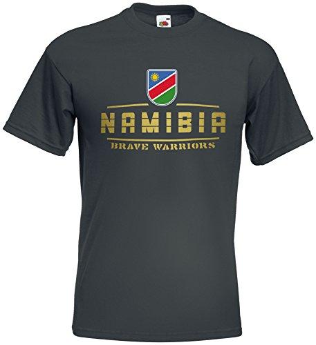 AkyTEX Namibia Fanshirt T-Shirt WM2018 Graphit XL