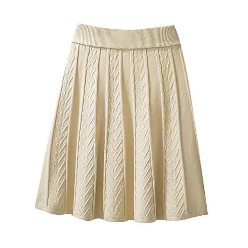 yayay Falda plisada de seda brillante para mujer con cintura ligera para mujer