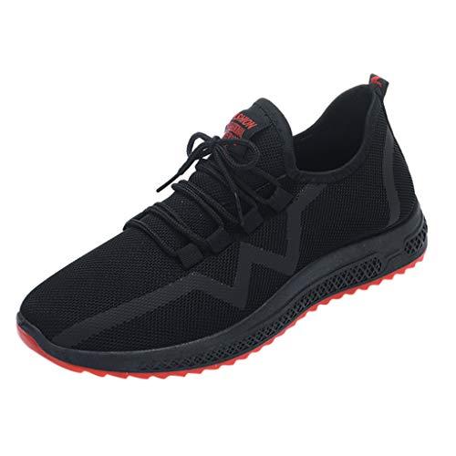 Chaussures de Running Compétition Homme Sneakers Respirant Maille Casual Chaussures de Course Sport Semelle Confort Athlétique Baskets Fitness Sunenjoy