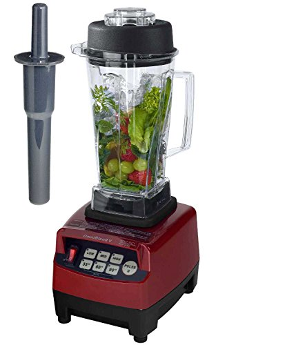 Profi YaYago - Batidora de vaso (cuchilla de acero inoxidable, hasta 38.000 revoluciones/minuto, ideal para smoothies) 2 Liter BPA-FREI rojo