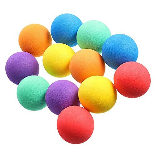 Kisangel 24 Pièces Balles en Mousse Mini Éponge Balles de Jeu Balles Anti- Stress Léger pour Artisanat Fête danniversaire Favorise Sac Cadeaux Charges 4Cm