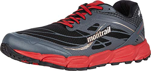 Columbia CALDORADO III Outdry Trail Running Shoe', Chaussures de Course Homme, Gris, Rouge (Black, Bright Red), 40 EU