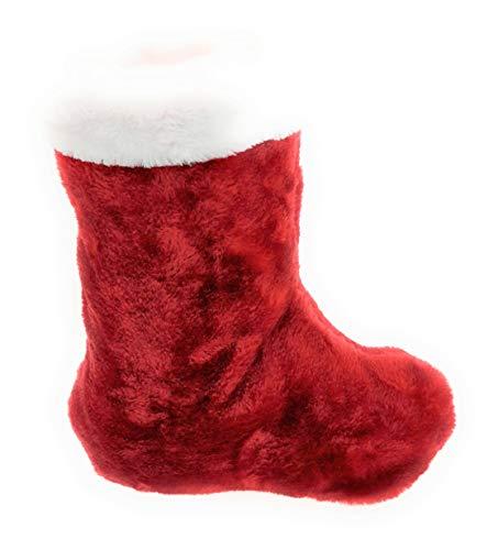 MC Trend Weihnachtsstrumpf Nikolausstrumpf Weihnachtsmann Nikolaus Weihnachten Strumpf zum Aufhängen und Befüllen (Weihnachtsstrumpf ROT)