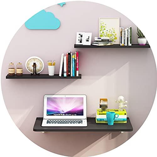 AWSAD Mesa Plegable Cocina Pequeña Mesa en La Pared Mesa Plegable Escritorio Estrecho contra La Pared, Se Pliega en Un Segundo (Color : Negro, Size : 100X50cm)