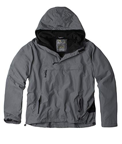 Surplus Herren Windbreaker Outdoor Jacke, grau, XL