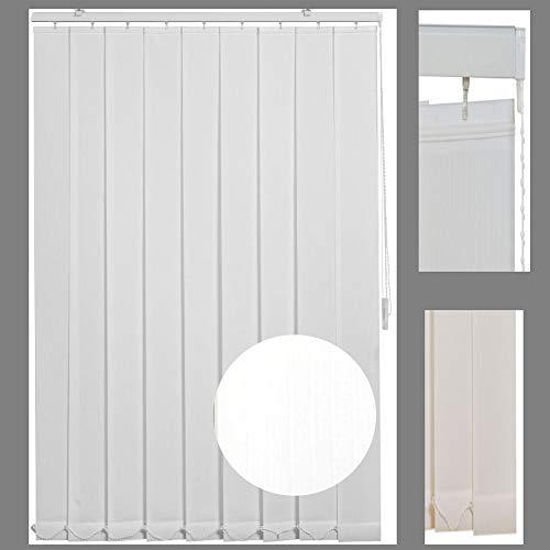 generisch Lamellenvorhang Vertikal-Jalousie Schiebegardine Weiss Höhe 150cm selbst kürzbar (150 x 150 cm)