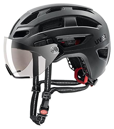 Uvex Finale Visor Casco Ciclismo, Unisex Adulto, Black Mat, 56-61 cm