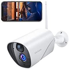 Victure 1080P WiFi IP Camera Surveillance Camera Outdoor PIR Motion Detection Waterproof met Night Vision 2.4Ghz WiFi Outdoor Bullet Camera Compatibel met IOS/Android*