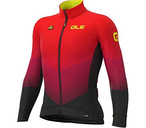 Alé Cycling PR-S Delta Micro Langarm Trikot Herren Black-Bordeaux-red Größe M 2020 Radtrikot langärmlig