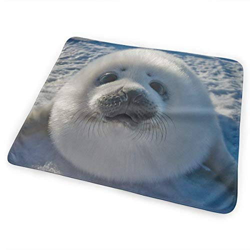 Voxpkrs Diaper Changing Pad Diaper Change Mat Cute Baby Seal Art 25.5 x 31.5 inches