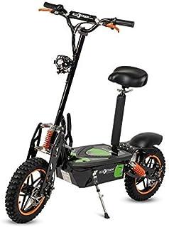 ECOXTREM Patinete/Scooter eléctrico Dos Ruedas con sillín Desmontable, Plegable y luz LED Frontal. Ideal para desplazamientos urbanos. Modelos Aspide 2000W y Renton 1200W.