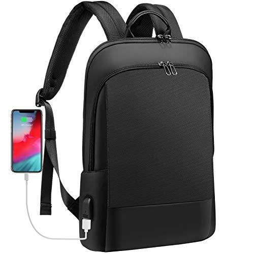 Laptop Backpack for Men Lightweight Laptop Bag for Women Unisex Bookbag Computer Bag Purse for Commuting College, 15.6 Inch, Black