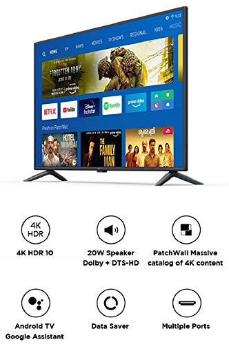 Mi TV 4X 125.7 cm (50 Inches) 4K Ultra HD Android LED TV (Black)