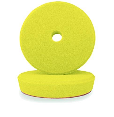 Preisvergleich Produktbild ALCLEAR 50163M Polierpad Auto Polierschwämme,  medium für RUPES Poliermaschine,  Durchmesser : 163 / 150x30 mm,  gelb,  2er Set,  Polierpad,  Polierschaum,  Yellow