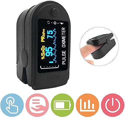 Si885monaL Dedo Oxímetro de Pulso Digital Monitor de saturación de oxígeno en Sangre Monitor de Ritmo cardíaco Monitores de Salud SPO2