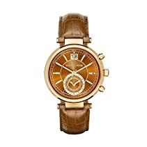 Micheal Kors Damen-Armbanduhr Chronograph Quarz Leder MK2424
