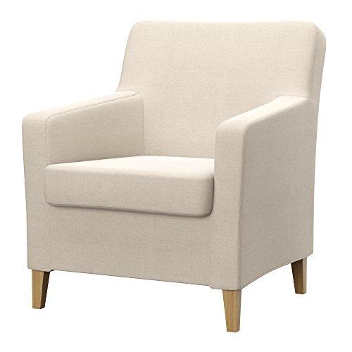 Soferia Ersatzbezug fur IKEA KARLSTAD Sessel, altes Modell, Stoff Elegance Creme, Ecru