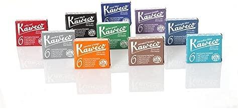 Kaweco Fountain Pen Ink Cartridges short, 10 colors, 10 x 6 pieces
