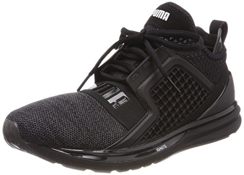 Puma Herren Ignite Limitless Knit Cross-Trainer, Schwarz Black-Silver, 43 EU