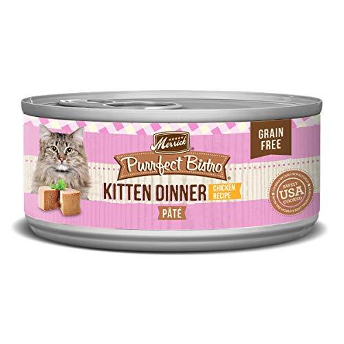 Merrick Purrfect Bistro Grain Free, 5.5 oz, Kitten Recipe - Pack...