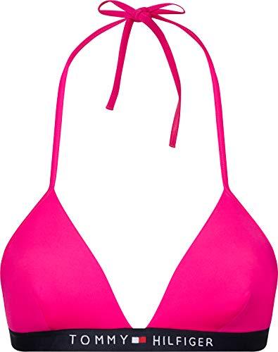 Tommy Hilfiger Damen Triangle Fixed Bikinioberteil, Pink (Pink Glo), M